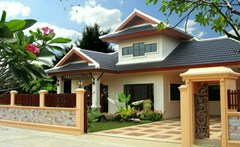 240 SQ.M: Bali House for sale Near Crocodile Farm - House - Crocodile Farm - Nong Pla Lai, Banglamung